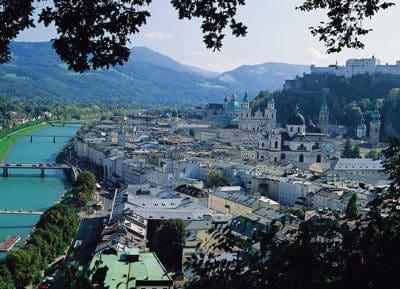 Stadtüberblick Salzburg-Umgebung