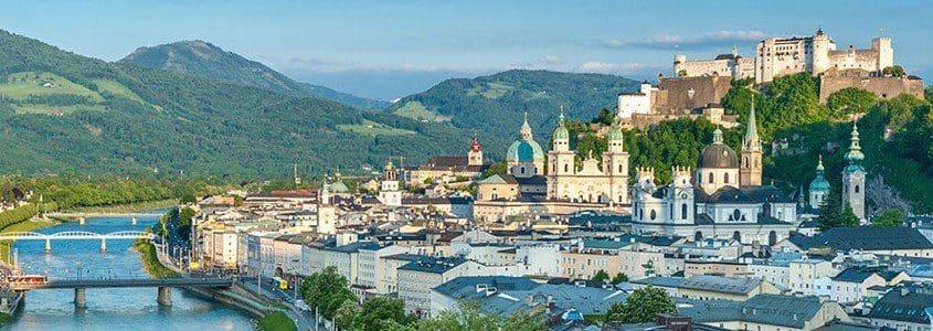 Blick über die Stadt Salzburg