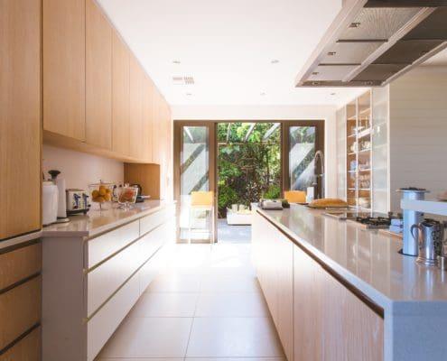 moderne barrierefreie Küche