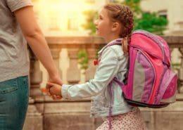 Umzug mit Schulkind