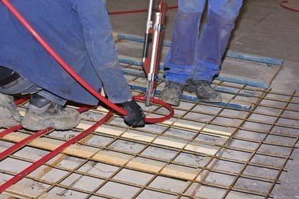 Bauteilaktivierung Bodenplatte