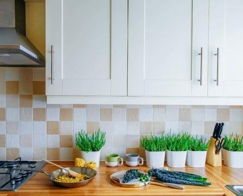 perfekte Höhe der Arbeitsfläche in der Küche