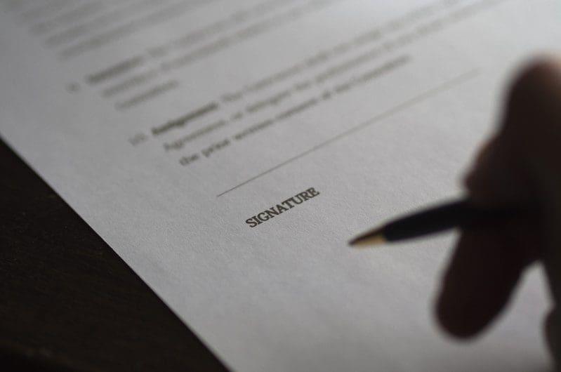 Kaufvertrag für einen Immobilienverkauf
