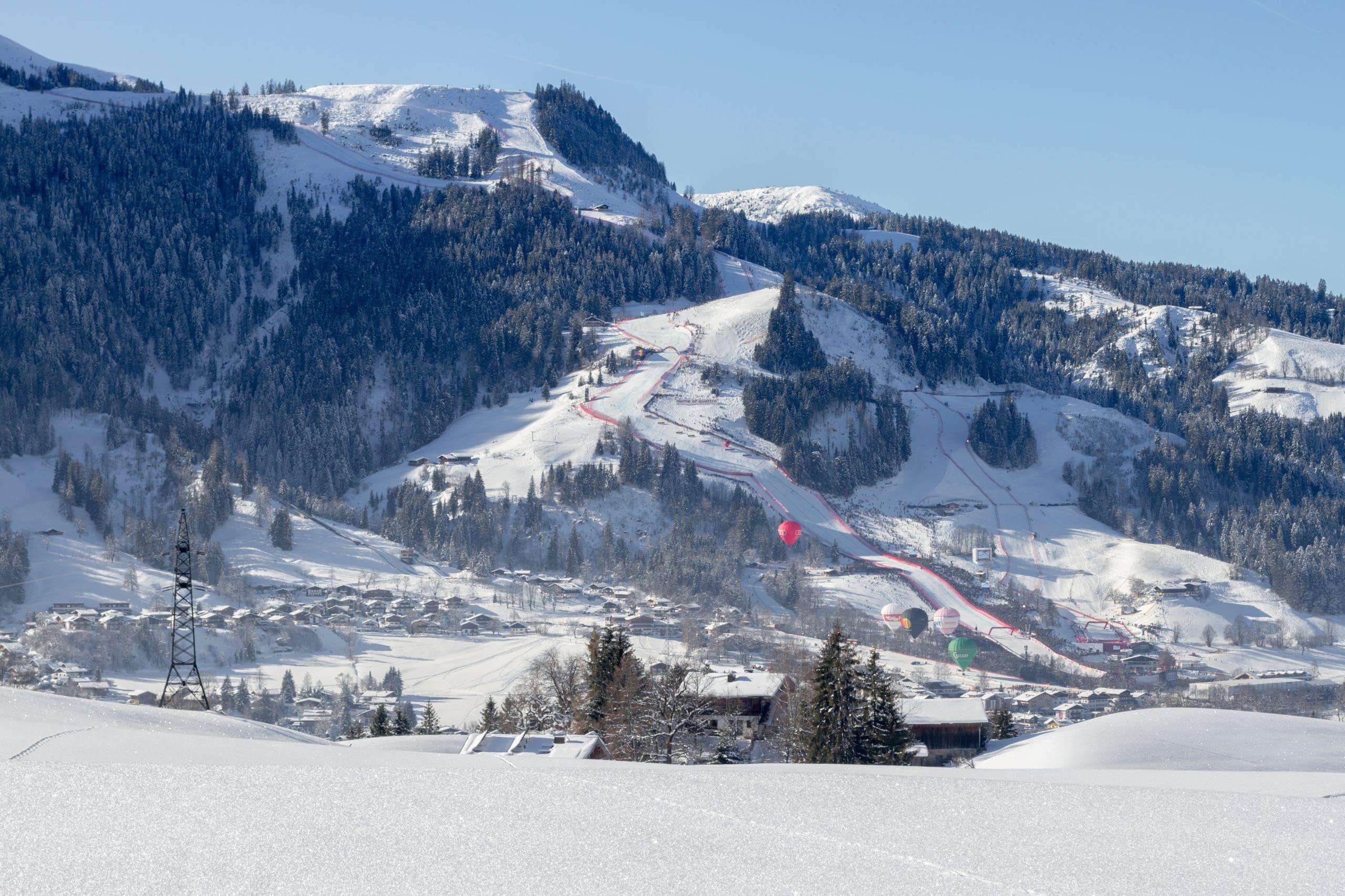 Hahnenkamm-Abfahrt Streif in Kitzbühel