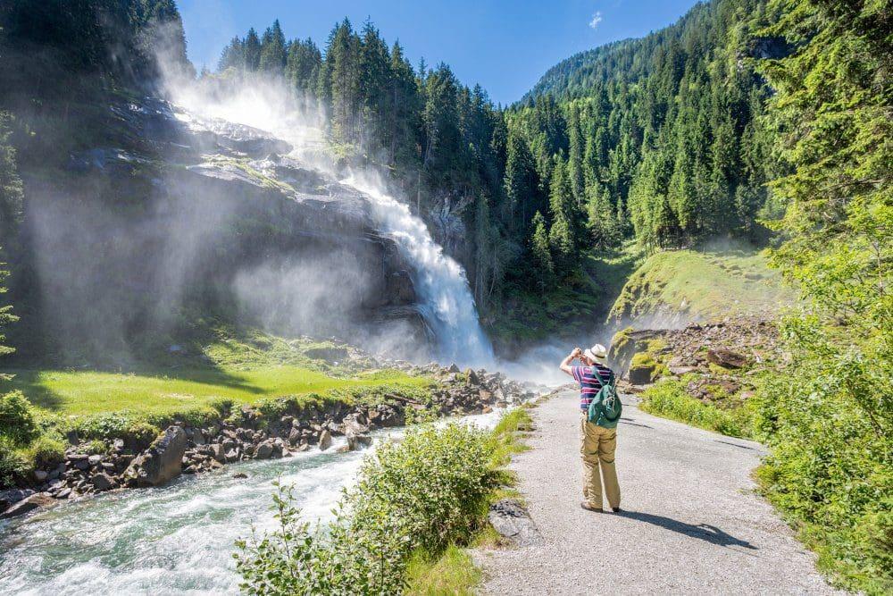 Krimml Wasserfälle in den Hohen Tauern