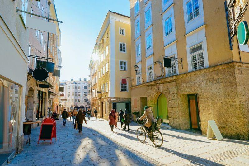 Die Altstadt in Salzburg
